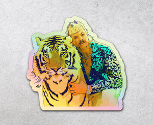 Tiger King Holographic Sticker