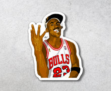 "Load image into Gallery viewer, Michael Jordan ""4 Rings"" Sticker"