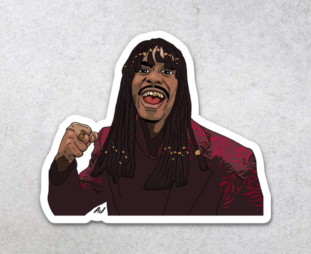 Rick James Sticker