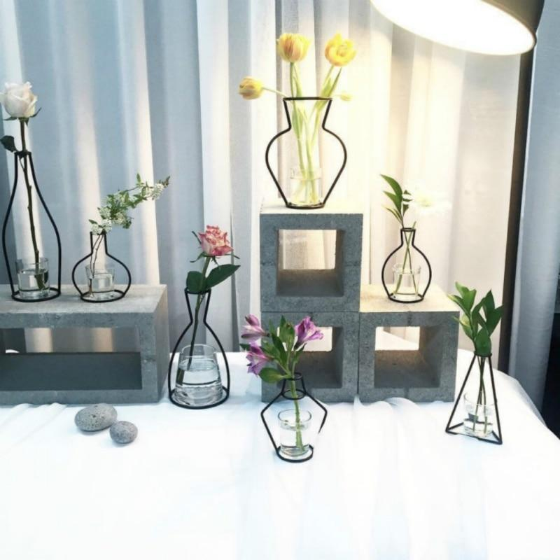 Abstrack Iron Vases - Lala Lamps Store