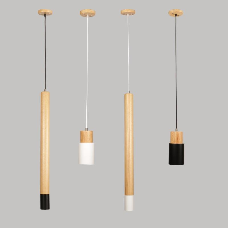 Ambrose - Modern Nordic Long Hanging Wood Light - Lala Lamps Store