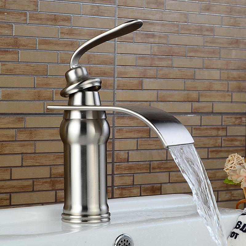 Ames - Vintage Brass Waterfall Faucet - Lala Lamps Store