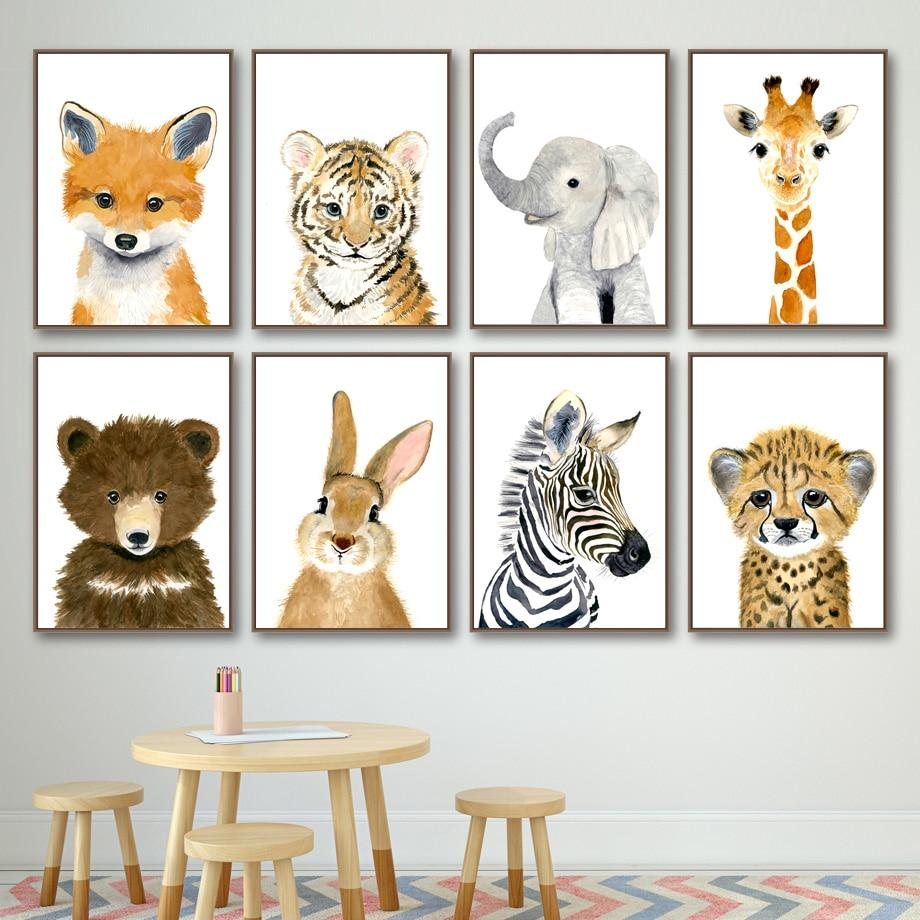 Animal Cartoon Canvas Wall Art - Lala Lamps Store