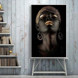 Black Nude Woman Canvas Wall Art - Lala Lamps Store