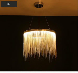 Circular LED Raindrop Chandelier - Lala Lamps Store