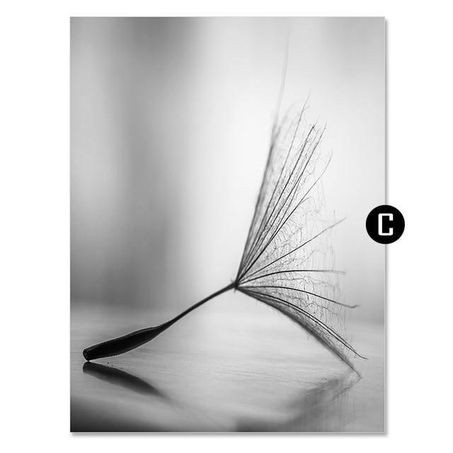 Dandelion Flower Canvas Wall Art - Lala Lamps Store