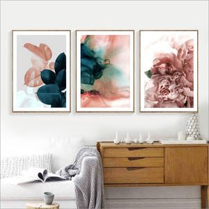 Flower Plants - Modern Abstract Wall Art - Lala Lamps Store