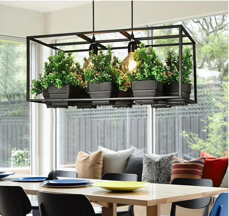 Iron Planter Chandeliers - Lala Lamps Store
