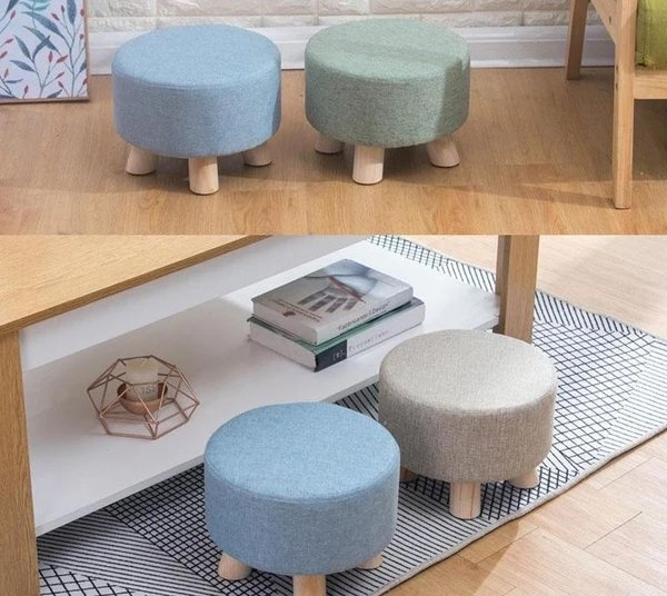 Juo - Modern Nordic Round Footstool - Lala Lamps Store
