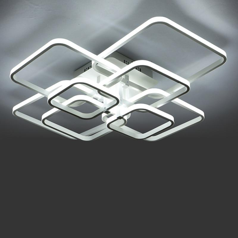 Layered Square Modern LED Chandeliers - Lala Lamps Store
