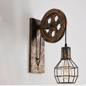 Loft - Indutrial Vintage Pulley Wall Mounted Lamp - Lala Lamps Store