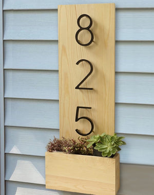 Modern House Numbers - Lala Lamps Store