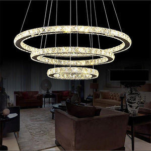 Modern LED Crystal Chandelier - Lala Lamps Store