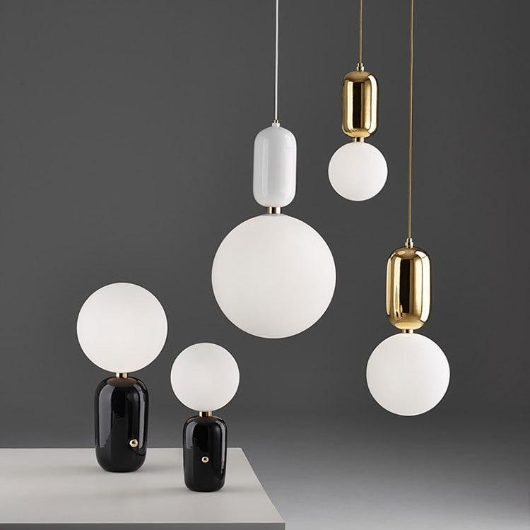 Modern Simple Led Pendant Lights - Glass Ball - Lala Lamps Store