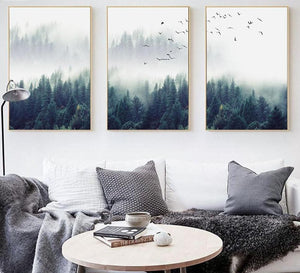 Nordic Decoration Forest Lanscape Wall Art - Lala Lamps Store