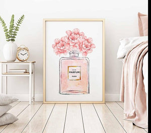 Perfume Bottle Canvas Wall Art - Lala Lamps Store