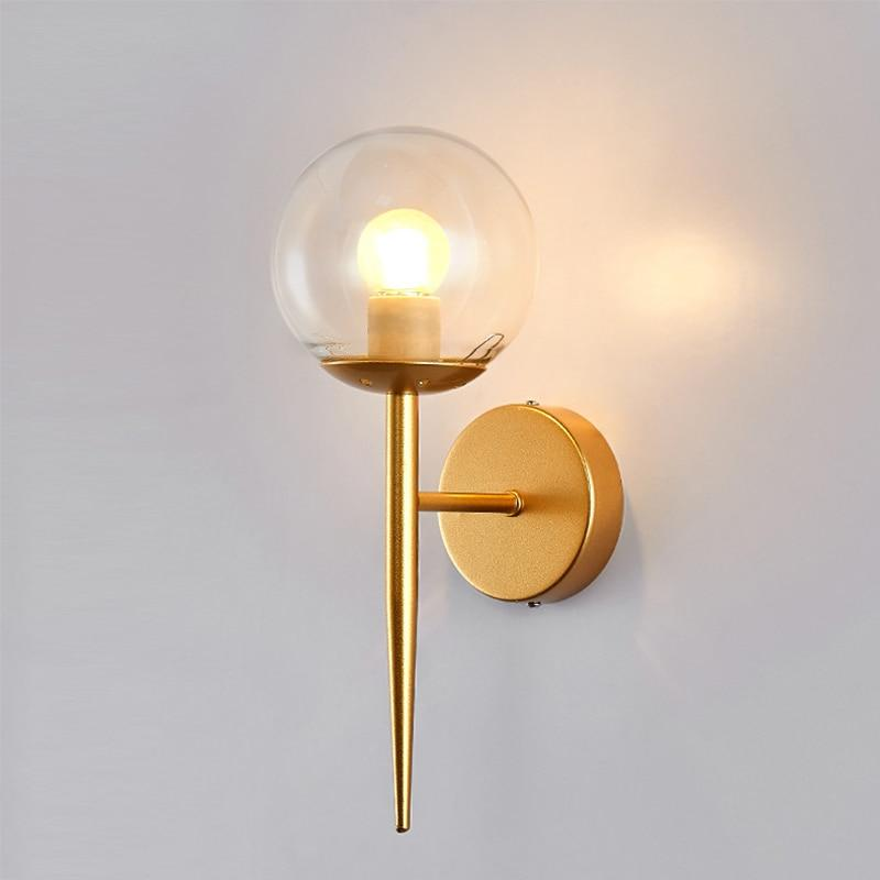Yujia - Glass Globe Wall Scone - Lala Lamps Store