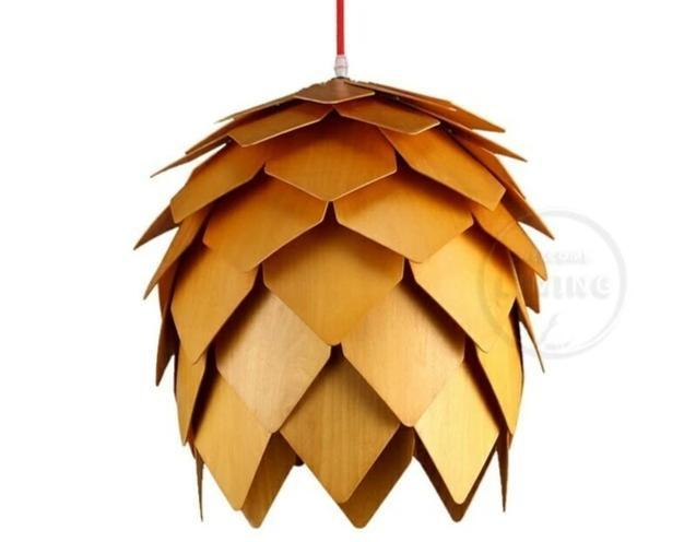 Modern Art Oak Pine Cone Pendant Lights - Lala Lamps Store