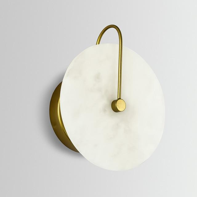 Lua - Marble Circular Wall Light - Lala Lamps Store