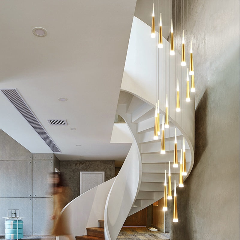 Ice Cream - Modern LED Chandelier Staircase - Lala Lamps Store