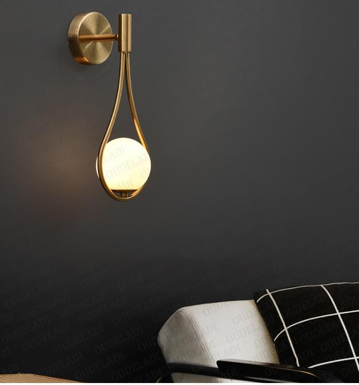 Lakue- Modern Nordic Glass Ball Wall Lamp - Lala Lamps Store