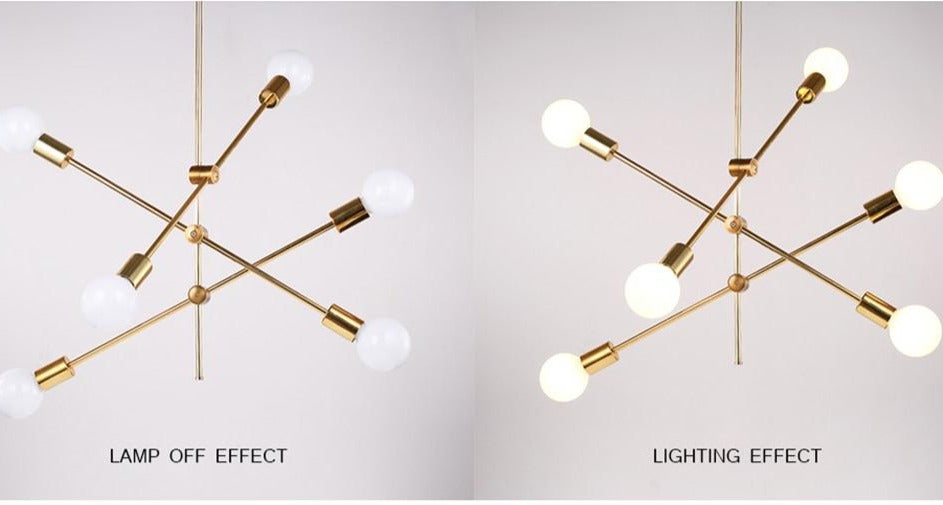 Carson -Modern Pole Designer Chandeliers - Lala Lamps Store
