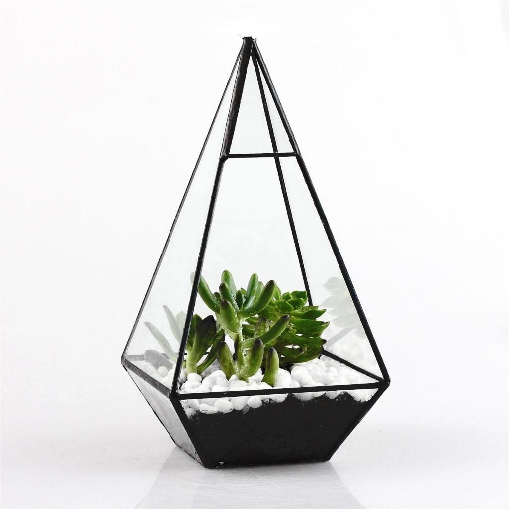 Pyramid Glass Geometric Terrarium Box - Lala Lamps Store