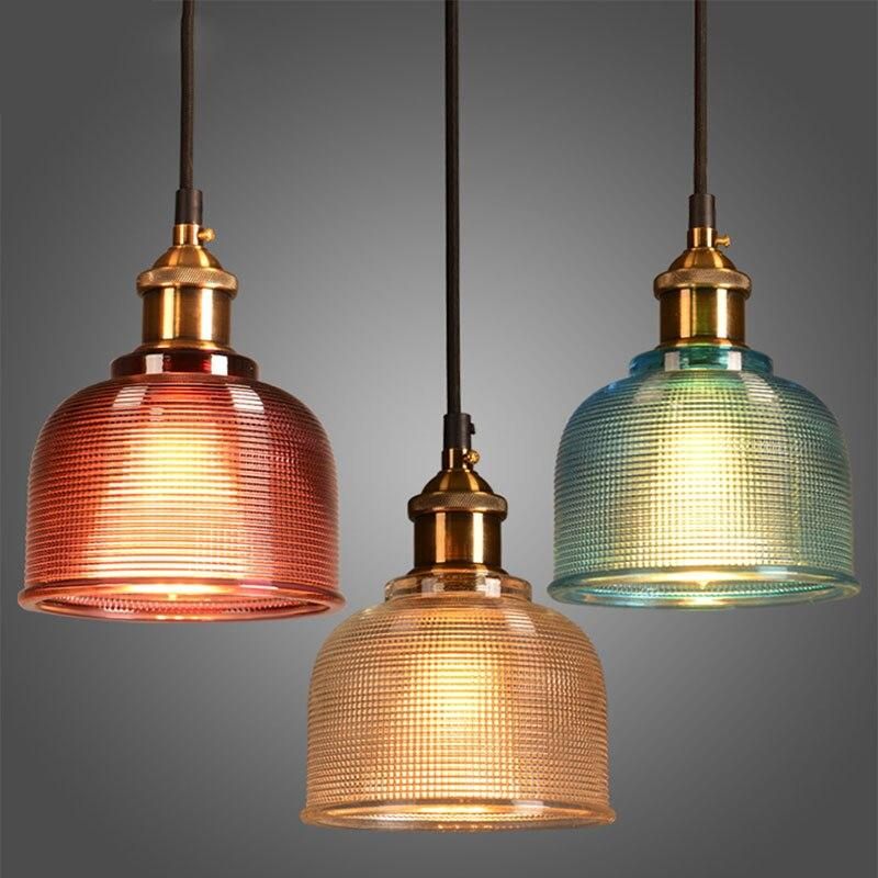 Sosie - Retro Europan Color Glass Pendant Light - Lala Lamps Store