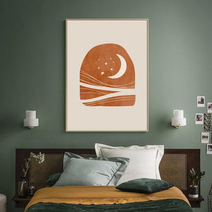 Sun and Moon Scene Boho Wall Art - Lala Lamps Store