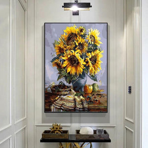 Sunflower DIY Oil Painting Wall Art - Lala Lamps Store