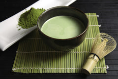 Matcha tea in a bowl