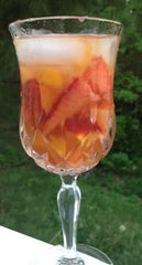 Peach n'cream tea sangria from Culinary teas