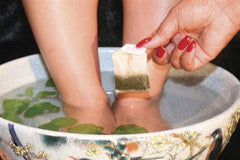 Green Tea Bag Foot Bath