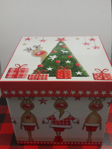 """Gift Box"" Canister / Tin gift Set Reindeer Tins"