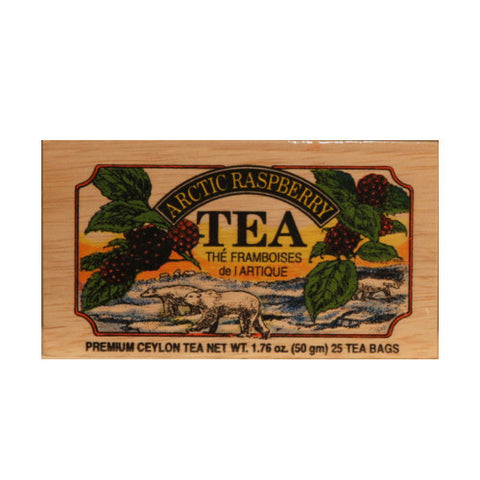 Arctic Raspberry 25 tea bags in wood chest