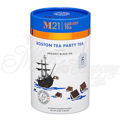 Boston Tea Party Decorative Pyramid Tea Bag Canister