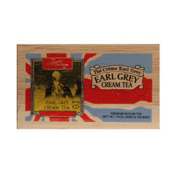 Cream Earl Grey 25 tea bags wood chest
