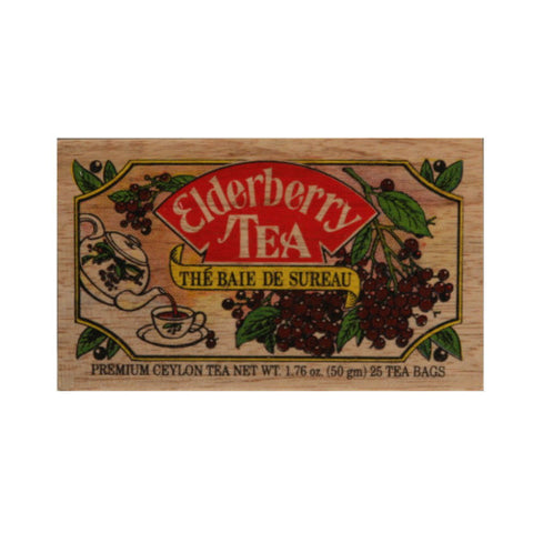 Elderberry 25 tea bags in wood chest