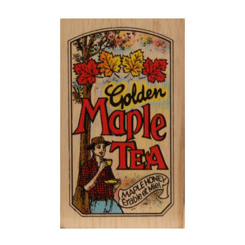 Golden Maple 25 tea bags in wood chest