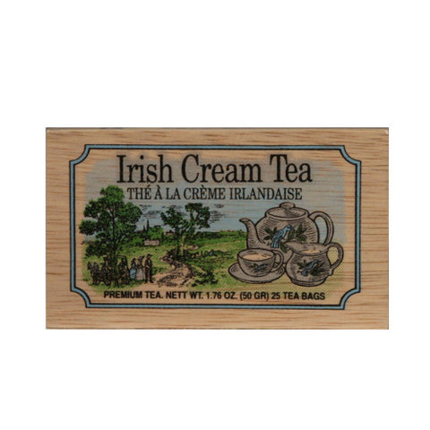 Irish Cream 25 tea bags in wood chest