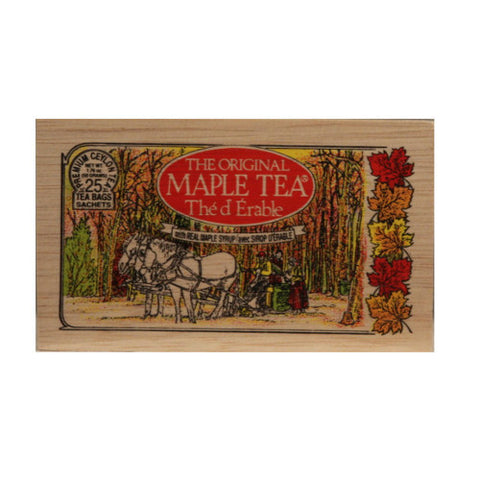 Maple 25 tea bags in wood chest