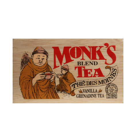 Monk's Blend 25 tea bags in wood chest