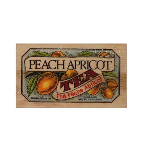 Peach Apricot 25 tea bags in wood chest