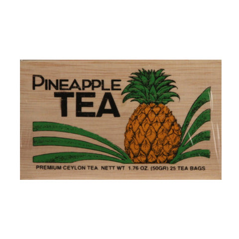 Pineapple 25 tea bags in wood chest