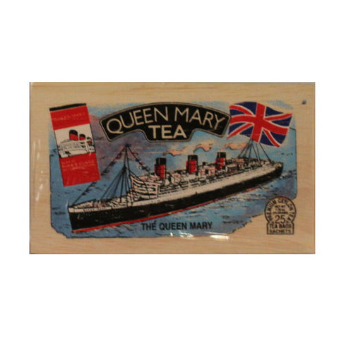 Queen Mary 25 tea bags in wood chest