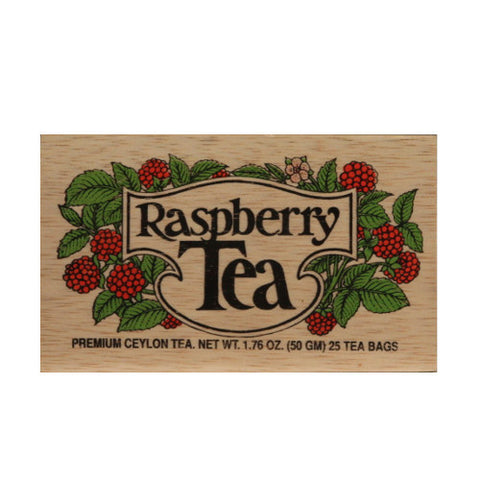 Raspberry 25 tea bags in wood chest