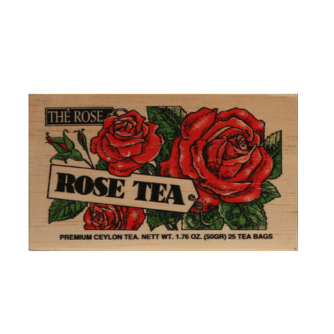 Rose 25 tea bags in wood chest
