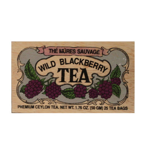 Wild Blackberry 25 tea bags in wood chest