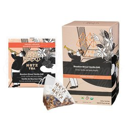 Organic Bourbon Street Vanilla Rooibos Herbal Tea (25 Loose-Leaf Pyramid Teabags Carton)