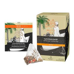 Cochin Masala Chai Black Tea (25 Loose-Leaf Pyramid Teabags Carton)